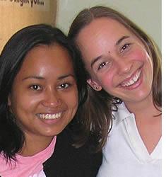 Andrea Rebsamen con la sua insegnante di spagnolo Janeth Martínez, attuale Direttore Accademico